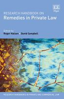 Research Handbook on Remedies in Private Law PDF
