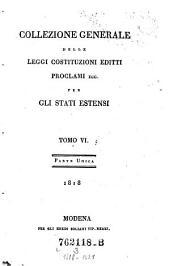 Collezione generale delle leggi costituzioni Editti