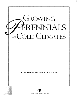 Growing Perennials in Cold Climates PDF