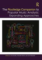 The Routledge Companion to Popular Music Analysis PDF
