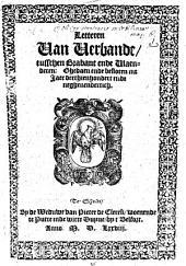 Letteren van Verbande, tusschen Brabant ende Vlaenderen: Ghedaen ende besloten int Jaer 1339