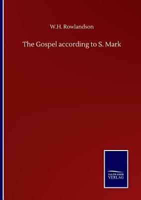 The Gospel according to S  Mark