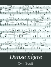 Danse nègre: piano solo (original), opus 58
