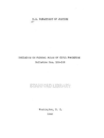 Decisions on Federal Rules of Civil Procedure PDF