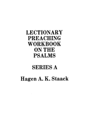 Lectionary Preaching Workbook on the Psalms PDF