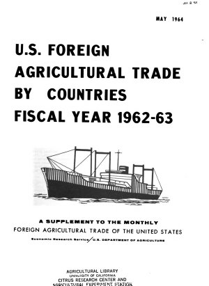 U S  Foreign Agricultural Trade by Countries