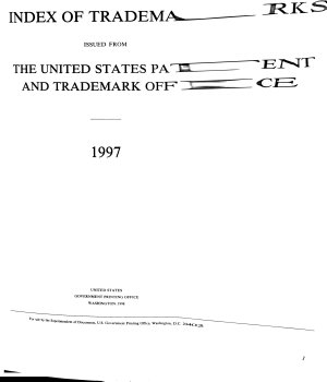 Index of Trademarks Issued from the United States Patent and Trademark Office PDF