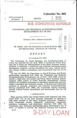 Vocational and Technical Entrepreneurship Development Act of 2001