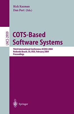 COTS Based Software Systems PDF