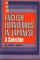 English Loanwords in Japanese PDF