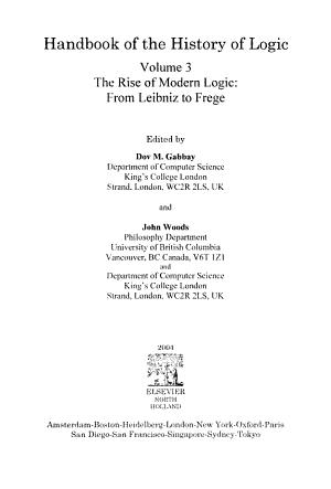 The Rise of Modern Logic: from Leibniz to Frege