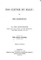 Too Clever by Half  or  the Harroways  By the Mofussilite i e  J  Lang PDF