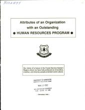 Attributes of an Organization with an Outstanding Human Resources Program