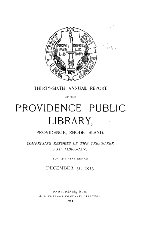 Annual Report of the Librarian of the Providence Public Library PDF