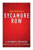 Summary of Sycamore Row Book
