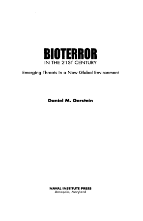 Bioterror in the 21st Century PDF