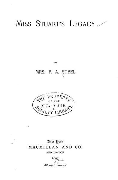 Download Miss Stuart s Legacy Book