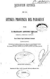 Descripción histórica de la antigua provincia del Paraguay