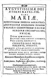 Parthenivm Decvs Maria: Illvstratvm Eivs SS. Nomen Varie Allegorijs Figuris, Interpretationibus, ac eiusmodi argumenti historijs lectioribus