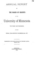 Annual Report of the Board of Regents of the University of Minnesota to the Governor for the Fiscal Year Ending     PDF