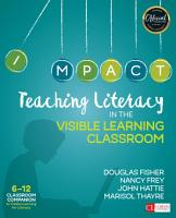 Teaching Literacy in the Visible Learning Classroom  Grades 6 12 PDF