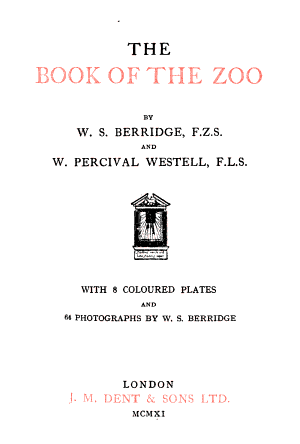 The Book of the Zoo