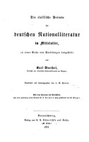 Die classische Periode der deutschen Nationalliteratur im Mittelalter PDF