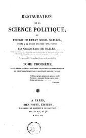 Restauration de la science politique: Suite et fin de ce qui concerne les seigneurs territoriaux ou princes patrimoniaux. Politique conservatrice