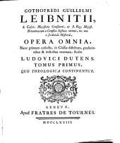 Opera omnia ... Studio Ludovici Dutens. Tomus Primus [-sextus]: Volume 1