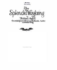 The Splendid Wayfaring Decorated By Lovat Fraser Gaudier Brzeska The Author And Gordon Craig Book PDF