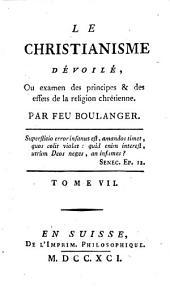 Le Christianisme dévoilé ... Par feu M. Boulanger or rather by Baron Holbach