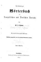 Nouveau dictionnaire français-allemand et allemand-français: Volume1