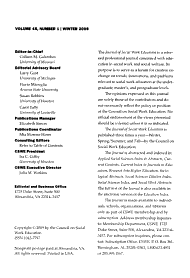 Journal of Social Work Education PDF