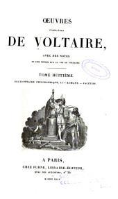 Oeuvres complètes de Voltaire: avec des notes et une notice historique sur la vie de Voltaire, Volume8
