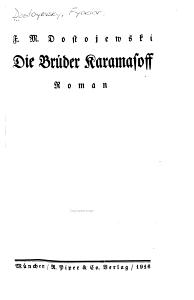 Die Br  der Karamasoff PDF
