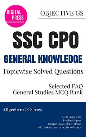 GK Topicwise Questions SSC CPO CENTRAL POLICE ORG  PDF