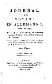 Journal d'un voyage en Allemagne, fait en 1773: Volumes1à2