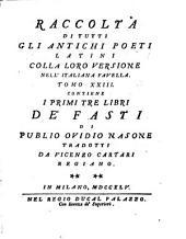 I Fasti: ¬I Primi Tre Libri, Volume 1