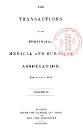 The Transactions of the Provincial Medical and Surgical Association: Volume 2