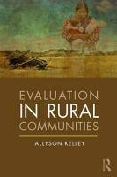 Evaluation in Rural Communities PDF