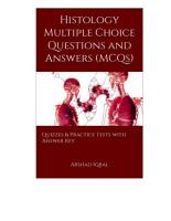 Histology Multiple Choice Questions and Answers  MCQs  PDF