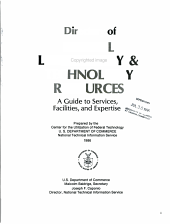 Directory of Federal Laboratory & Technology Resources
