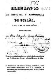 Elementos de historia y cronologia de España: para uso de los niños