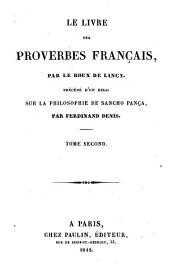 Le livre des proverbes Français: Volume2