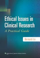 Ethical Issues in Clinical Research PDF