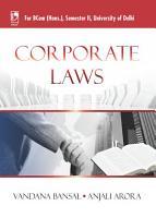 Corporate Law  For B Com  Sem 2  Delhi University  PDF