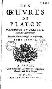 @ Les : Oeuvres de Platon trad. en françois, avec des remarques [par Dacier]