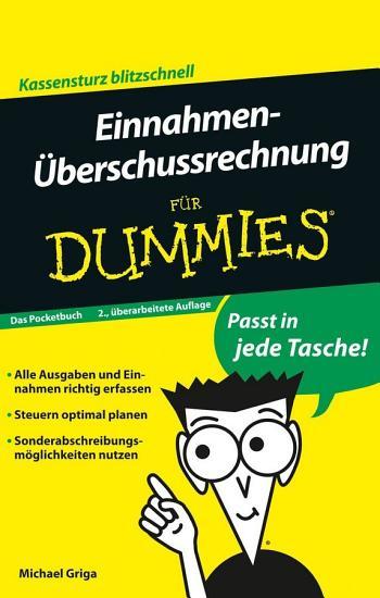 Einnahmen   berschussrechnung f  r Dummies Das Pocketbuch PDF