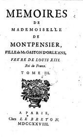 Memoires de Mademoiselle de Montpensier