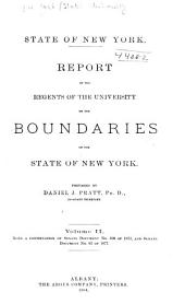 Report of the Regents of the University, on the Boundaries of the State of New York: Volume 2